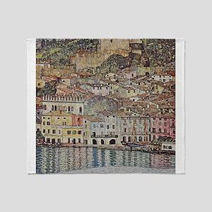 Lake Garda by Klimt Throw Blanket