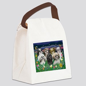 7 Shih Tzus - by JF Canvas Lunch Bag
