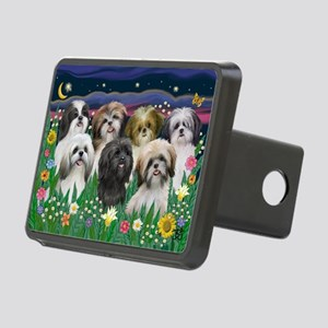 7 Shih Tzus - by JF Rectangular Hitch Cover