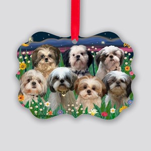 8x10-7 SHIH TZUS-Moonlight Garden Picture Orna