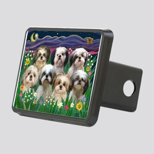 8x10-7 SHIH TZUS-Moonlight Garden Rectangular