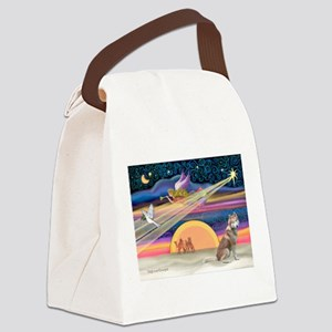 XmasStar/Red Husky Canvas Lunch Bag