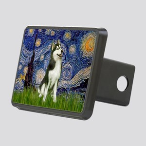 Starry Night & Husky Rectangular Hitch Cover