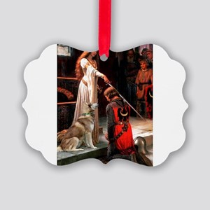 TILE-Accolade-SibHusky-Red1 Picture Ornament