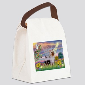 Cloud Angel / Silky Terrier Canvas Lunch Bag