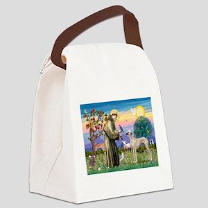 Saint Francis & Sloughi Canvas Lunch Bag