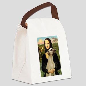 Mona Lisa's Sloughi Canvas Lunch Bag