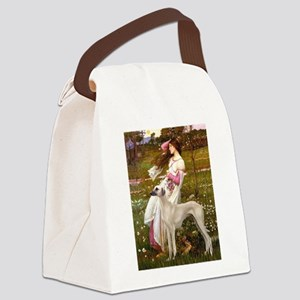 Wind Flowers & Sloughi Canvas Lunch Bag