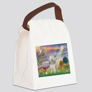 Cloud Angel & Tibetan Terrier Canvas Lunch Bag
