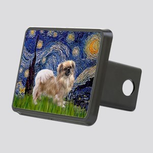 Starry Night Tibetan Spaniel Rectangular Hitch Cov