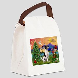 card-XmasFantsy-ToyFoxT Canvas Lunch Bag