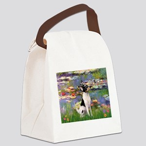 card-Lilies2-ToyFoxT Canvas Lunch Bag