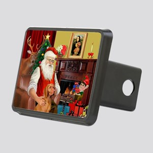 Santa's Vizsla Rectangular Hitch Cover