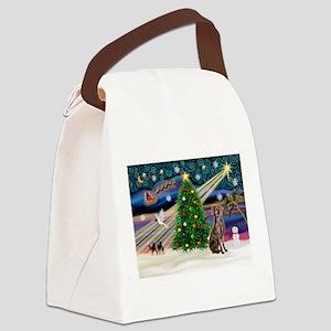 XmasMagic/Weimaraner 2 Canvas Lunch Bag