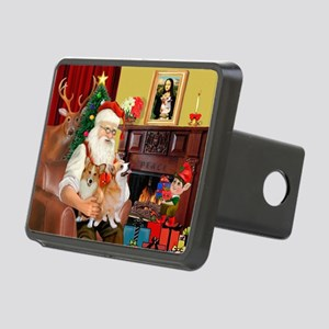 Santa's 2 Corgis (P2) Rectangular Hitch Cover