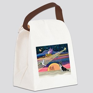 XmasStar/Corgi (12BB) Canvas Lunch Bag