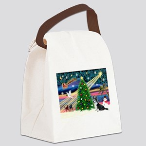 XmasMagic/Corgi (12BW) Canvas Lunch Bag