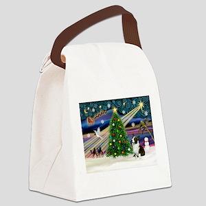 XmasMagic/Corgi (5C) Canvas Lunch Bag