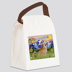 Mt Country / Corgi (p) Canvas Lunch Bag