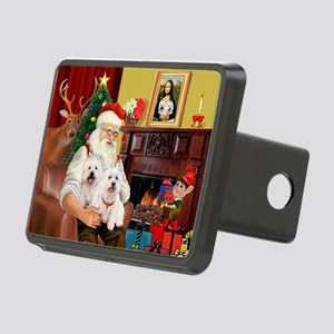 Santa/2 West Highland Rectangular Hitch Cover