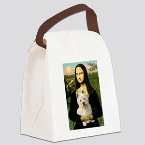 Mona and her Westie Canvas Lunch Bag