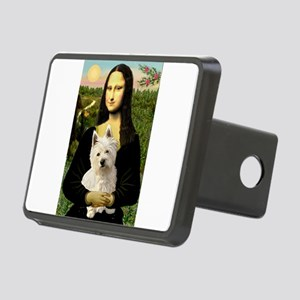 Mona and her Westie Rectangular Hitch Cover