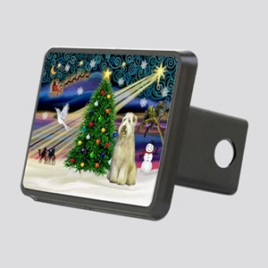 Xmas Magic - Wheaten (sit) Rectangular Hitch Cover