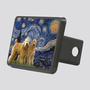 TILE-Starrynight-WheatenPair Rectangular Hitch