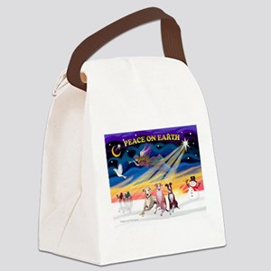 XmasSunrise/3 Whippets Canvas Lunch Bag