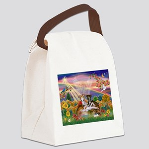 Autumn Angel / Whippet Canvas Lunch Bag