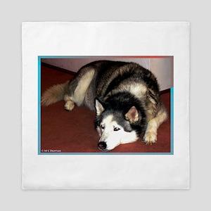Husky! Dog photo! Queen Duvet