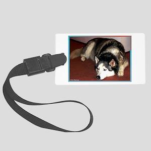 Husky! Dog photo! Large Luggage Tag
