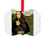 THER-card-Mona-Lab-Choc2 Picture Ornament