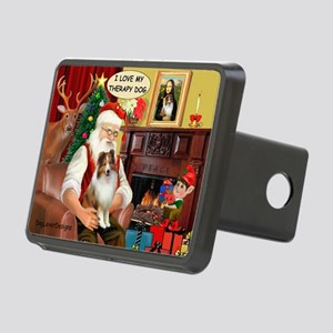 Santa/Sheltie Therapy Rectangular Hitch Cover
