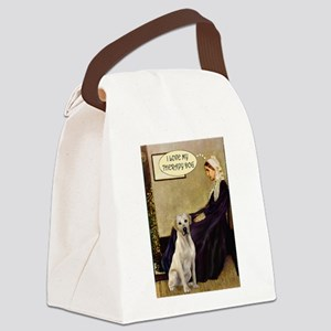 Mom's Yellow Lab (TH) Canvas Lunch Bag
