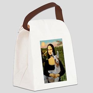 Mona's Baby Llama Canvas Lunch Bag