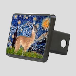 Starry Night Llama Rectangular Hitch Cover