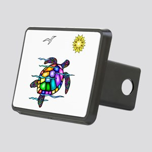 Sea Turtle 1 - with waves Rectangular Hitch Co