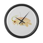 Mole Shrimp Sand Crab Sand Flea Large Wall Clock