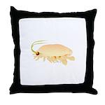 Mole Shrimp Sand Crab Sand Flea Throw Pillow