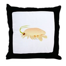 Mole Shrimp Sand Crab Sand Flea Throw Pillow