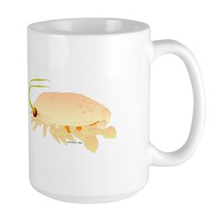 Mole Shrimp Sand Crab Sand Flea Large Mug