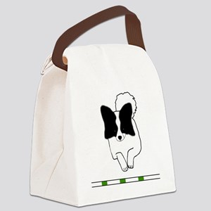 Black Papillon Canvas Lunch Bag