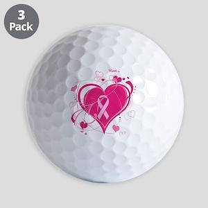 Run With Heart Pink hearts Golf Balls