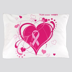 Run With Heart Pink hearts Pillow Case