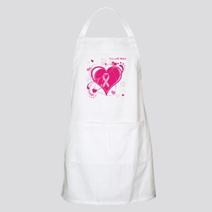 Run With Heart Pink hearts Apron