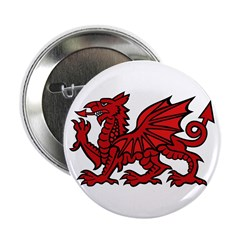 Red Welsh Dragon Button