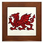 Red Welsh Dragon Framed Tile