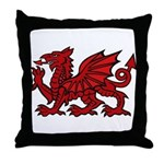 Red Welsh Dragon Throw Pillow