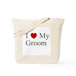 I (heart) My Groom Tote Bag